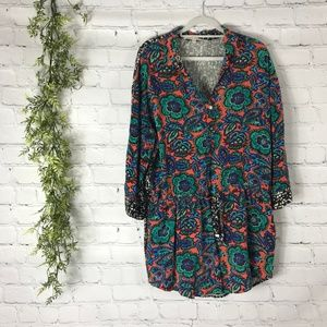 RACHEL by Rachel Roy Patterned Drop Waist Dress XL